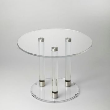Butler Landis Clear Acrylic Bunching Coffee Table