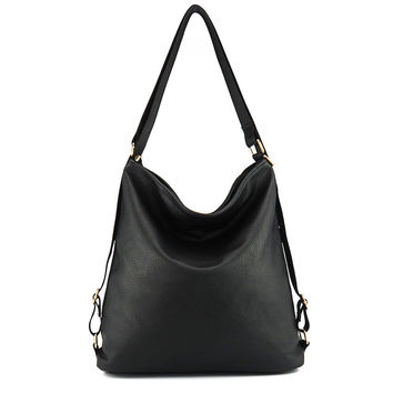 Artificial leather shoulder bag female big handbag women black color new arrival totes bags woman hobos