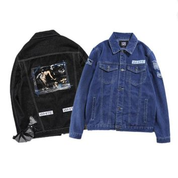 Denim Fashion Autumn Men's Fashion Jacket [402634276900]