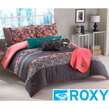 Roxy Samantha Floral 5-piece Comforter Set with Body Pillow and Throw | Overstock.com