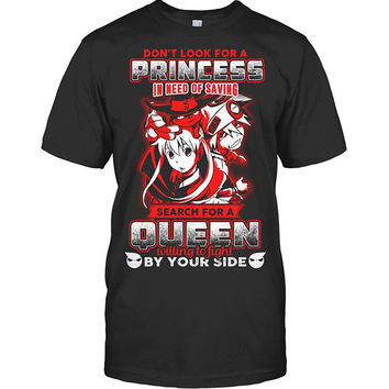 Soul Eater - Don't look for a princess in need of saving search for a queen willing to fight by you side - Men Short Sleeve T Shirt - SSID2016