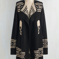 Urban Long Sleeve Skull Spirit Cardigan