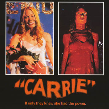 Carrie Horror Movie Poster 24x34