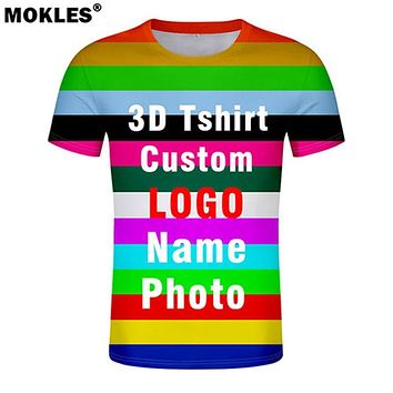 3D t shirt free custom made name number logo text photo t-shirt nation flags country college university whole body print clothes