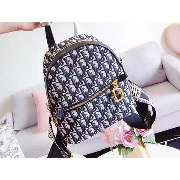 DIOR hot seller for fashionable ladies full of casual shopping backpacks