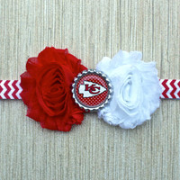 NFL Kansas City Chiefs inspired headband- perfect for football season!