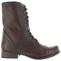 Steve Madden Troopa - Brown Leather Combat Boot