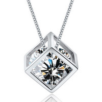 Shiny Jewelry Gift New Arrival Stylish 925 Silver Chain Korean Pendant Necklace [8080533639]