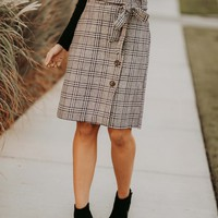 Who You Really Are Plaid Skirt