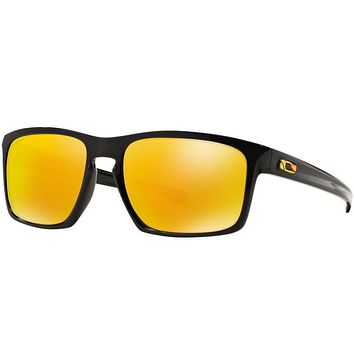 Tagre™ Oakley Sliver Valentino Rossi Sunglasses Polished Black Fire Iridium OO9262-27