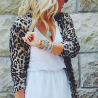 Oversized On The Prowl Leopard Cardigan