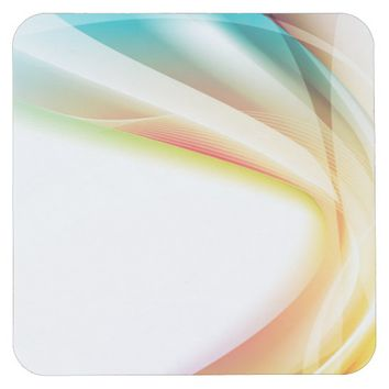 Abstract Swirl 2 Square Paper Coaster