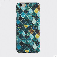Bling Bling Blue Scale IPhone 6 S plus Cases