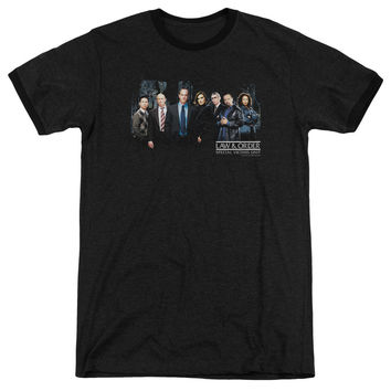 Law & Order: SVU Cast Black Ringer T-Shirt