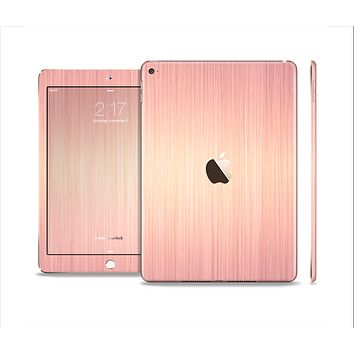 The Rose Gold Brushed Surface Skin Set for the Apple iPad Air 2