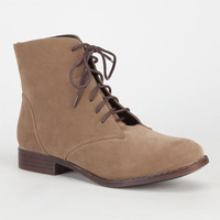 Dollhouse Dandy Womens Boots Taupe  In Sizes