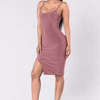 Cassidy Dress - Red Brown