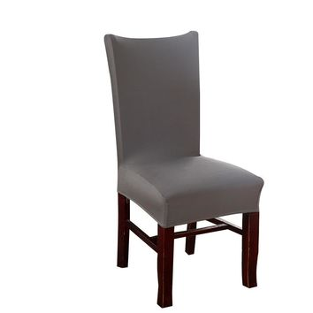 MECEROCK Spandex Stretch Dining Chair Cover Elastic Slipcovers Solid Color Restaurant Seat Cover for Wedding Hotel Banquet