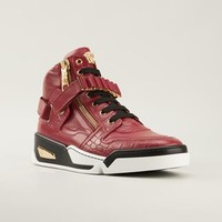 Versace Zipped Hi-top Sneakers - Biondini Paris - Farfetch.com