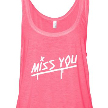 "Louis Tomlinson ""Miss You"" Boxy, Cropped Tank Top"