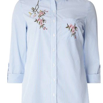 Blue Floral Embroidered Shirt - View All Sale - Sale & Offers
