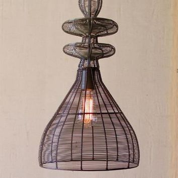 Wire Weave Pendant Light #2