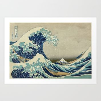 The Great Wave off Kanagawa Art Print by Palazzo Art Gallery