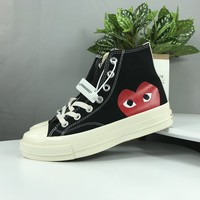 2017 CDG Play Converse 1970s Chuck Taylor Shoes Men Women Running Low High Top Skateboard Casual Sneakers 35-44