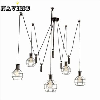 Nordic Industrial Pulley Pendant Lights Fixture American Creative Vintage Country Lamp Lampara de techo Restaurant Living Room