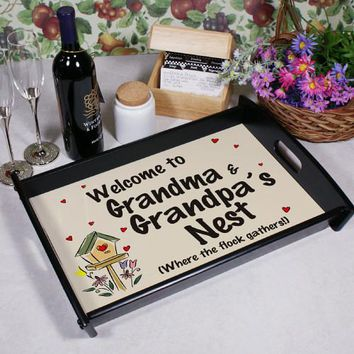 Personalized Welcome Serving Tray