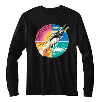 Pink Floyd Long Sleeve T-Shirt Wish You Were Here Vinyl Black Tee