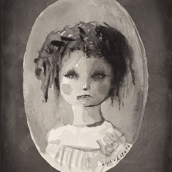 SALE 50% off: Ghost Daughter (print of my original painting)
