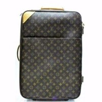 DCK7YE Louis Vuitton 55 Rolling Luggage Travel Suitcase Bag. Monogram Canvas Pegase Travel Ba
