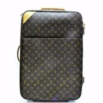 LMFIW1 Louis Vuitton 55 Rolling Luggage Travel Suitcase Bag. Monogram Canvas Pegase Travel Ba