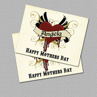 Tattoo Heart Printable Mother's Day Card by TheRedStarDesigns