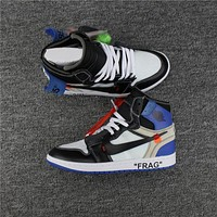 OFF-WHITE for Nike x Air Jordan 1 Fragment AA3834-103 Basketball Sneaker