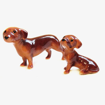 Vintage Porcelain Figurines, Dog / Dachshund Puppy Lot