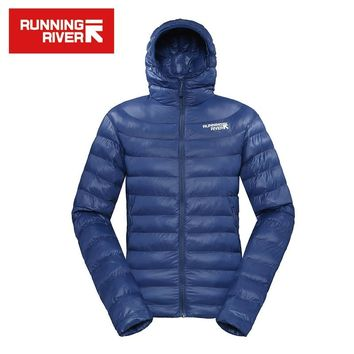 RUNNING RIVER Brand 2016 Warm Winter Cotton Jacket With Hooded For Men 5 Colors High Quality Lightweight Hiking Coat #L4358N