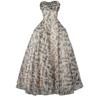 Vintage 1950's Frank Starr Organza Dress with Wrap