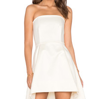 Dune Strapless Dress in Ivory