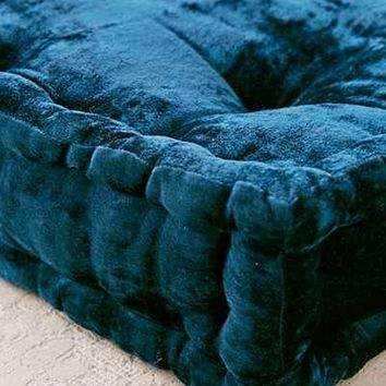 Ruthie Velvet Floor Pillow - Urban Outfitters