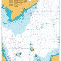 British Admiralty Nautical Chart 3482: Singapore Strait to Song Sai Gon