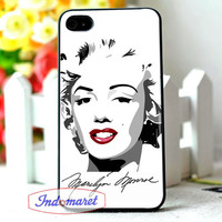 marilyn monroe face - iPhone 4/4s, iPhone 5/5s/5c, Samsung Galaxy S3/S4/S5 Case by INDOMARET