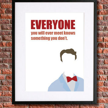 """Bill Nye """"The Science Guy"""" Art 