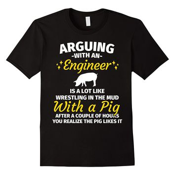 Gifts for Engineers - Fighting With an Engineer Pig Shirt
