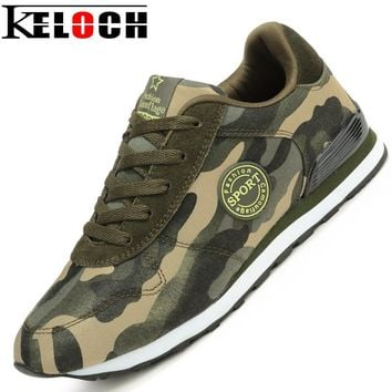 Keloch Fashion Lovers Canvas Shoes Camouflage Military Men Casual Shoes Autumn Breathable Camo Flats Men Chaussure Femme