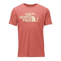 Men's TNF Mascot Tri-Blend Tee in Bossa Nova Red Heather by The North Face - FINAL SALE