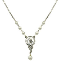 Amore Fancy Pearl Necklace - David's Bridal