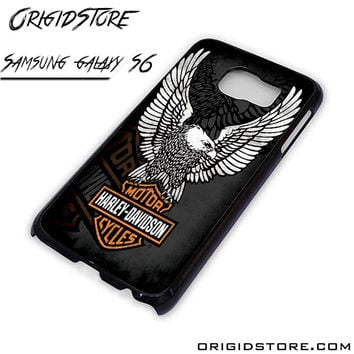 harley davidson motorcycle eagle logo For Samsung Cases Phone Covers Phone Cases Samsung Galaxy S6 Case Samsung Galaxy S6 Case Smartphone Case