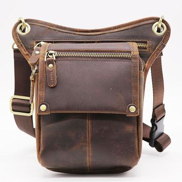 Genuine Leather Waist /Shoulder Bag phone pouch  telefono